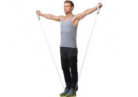 Træningselastik med håndtag - 1,4 meter