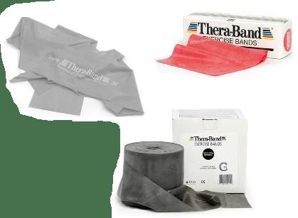 Flade elastikker fra Thera-Band