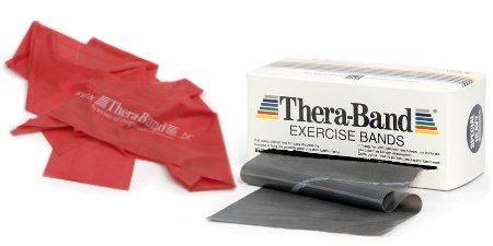 Forskellige varianter af Thera Band elastikker