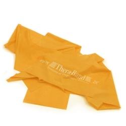 Guld Thera Band elastik på 2,5 meter. Modstand = Ekstrem hård