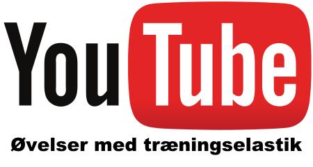Øvelser med træningselastik kan nemt findes på YouTube