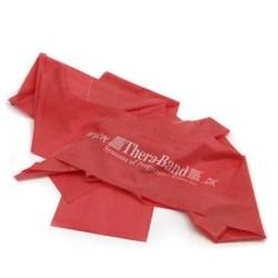Rød Thera Band elastik på 2,5 meter. Modstand = Let