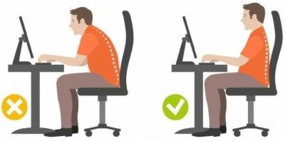 Sådan sidder du rigtigt på kontorstolen