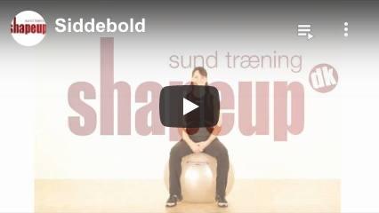 Se YouTube video om vores siddebolde