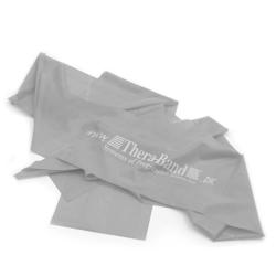 Sølv Thera Band elastik på 2,5 meter. Modstand = Meget hård