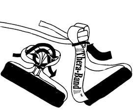 Sådan monterer du træningshåndtag på en elastik